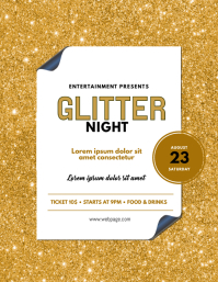 Glitter Event Flyer Template