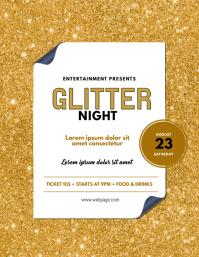 Glitter Event Flyer Template