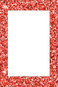 Glitter Party Prop Frame