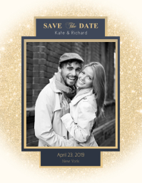Glittery Save the Date Flyer
