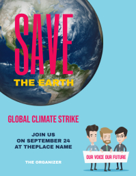 Global Climate Strike Flyer Design