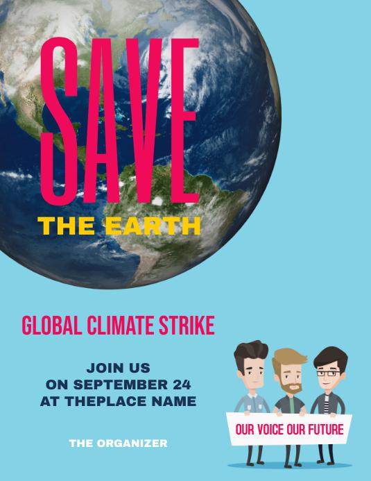 Global Climate Strike Flyer Design