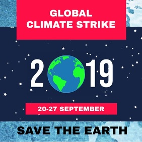 Global Climate Strike Sign Poster Video