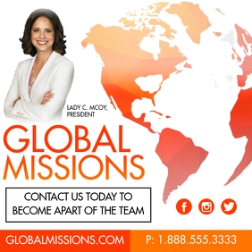 Global Missions Message Instagram template