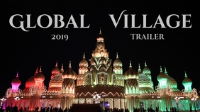 Global village Miniatura na YouTube template