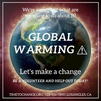 Global warming Quadrat (1:1) template