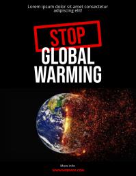 Global Warming Flyer Design Template
