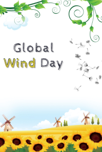 Global wind day Plakat template