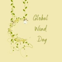 Global wind day Instagram Post template