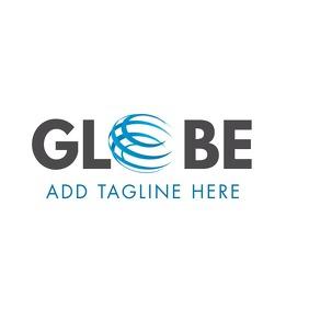 globe company name logo globe icon