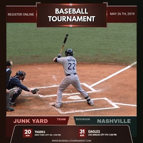 Glossy Baseball Tournament Video Template