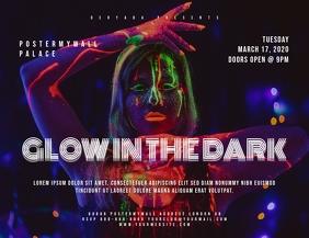 Glow In The Dark Landscape Flyer Template