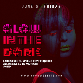 Glow in the Dark Party Instagram Banner