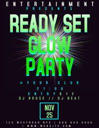GLOW NEON PARTY NIGHT EVENT FLYER TEMPLATE
