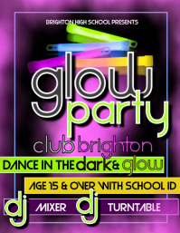 17450 Customizable Design Templates For Glow Party Postermywall