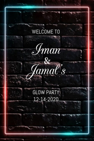 Glow Party Welcome Sign