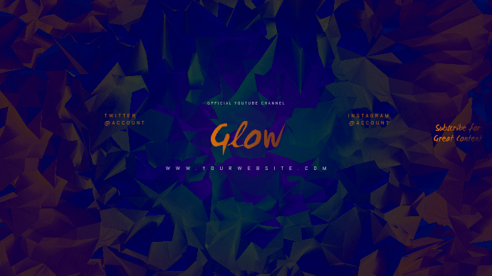 Glow Youtube Channel Art Banner Template Postermywall