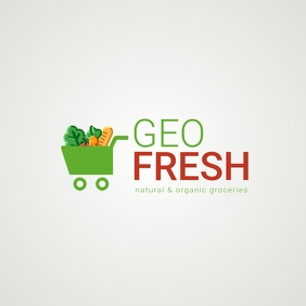 Go fresh grocery logo template