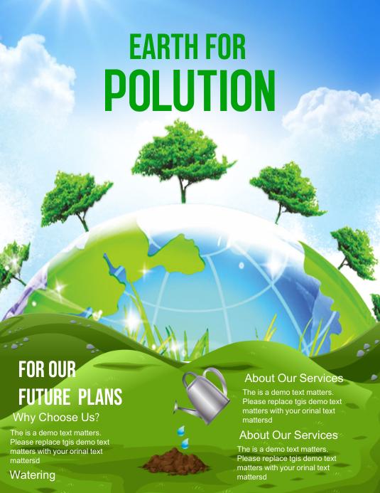 Go Green Pamflet (Letter AS) template