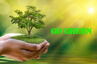 GO GREEN Poster template