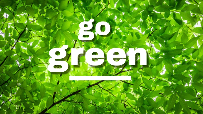 go green environment leaves branches Digitalt display (16:9) template
