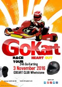 Go Kart Poster Template