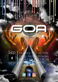 GOA Party Electro Electronic Music Club Flyer