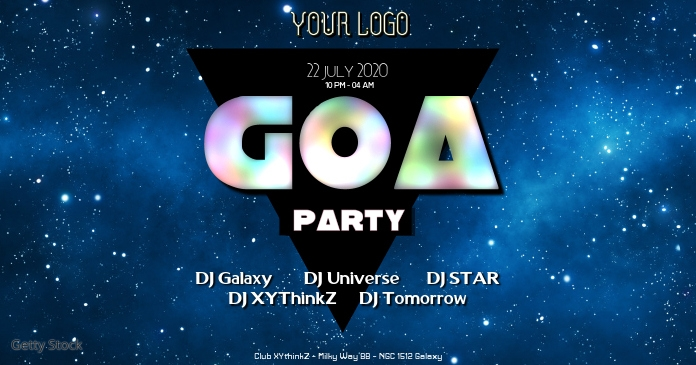 Goa Party Electro Electronic Music Sound Psychedelic Club auf Facebook geteiltes Bild template