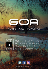 Goa Psy Trance Forest Outdoor Openair Ad