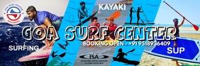 Goa Surf Center Banner Template แบนเนอร์ 2' × 6'