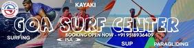 Goa Surf Center Full Banner Template Spanduk 2' × 8'