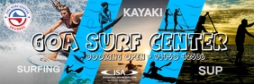 Goa Surf Center Premium Poster Template แบนเนอร์ 2' × 6'