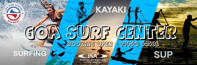 Goa Surf Center Premium Poster Template 横幅 2' × 6'