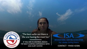 Goa Surf center Video Template