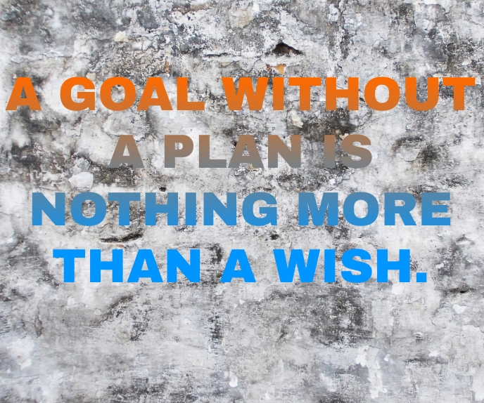 GOAL AND WISH BOARD SIGN TEMPLATE Stort rektangel