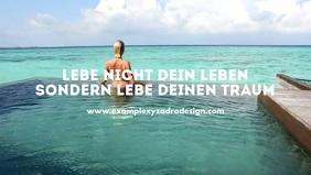 Goals Quotes Motivation Message Life Coach Video copertina Facebook (16:9) template