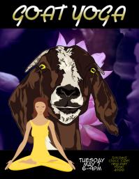 goat yoga event custom flyer template