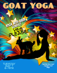 goat yoga event flyer template customize