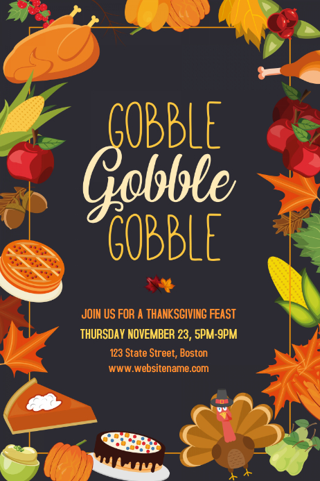 customize 1 140  thanksgiving poster templates