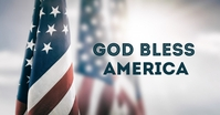 God Bless America Banner Header Cover Flags Image partagée Facebook template