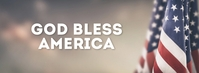 God Bless America Banner Header Video Flag template