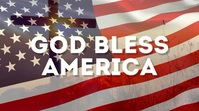 God Bless America Banner Header Video Flag Ekran reklamowy (16:9) template
