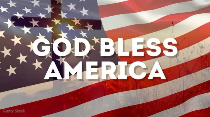 God Bless America Banner Header Video Flag Digitale Vertoning (16:9) template