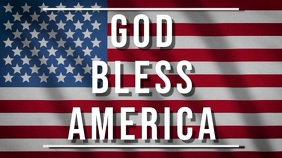 god bless america Digital Display (16:9) template