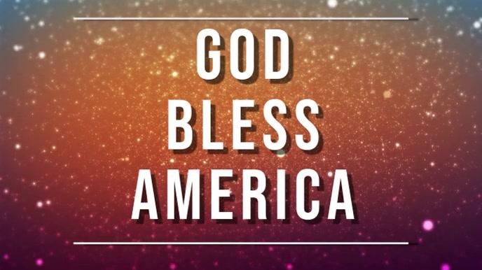 god bless america Pantalla Digital (16:9) template