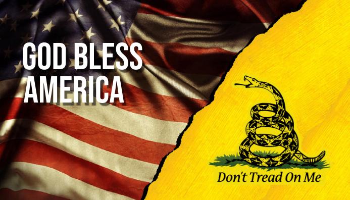 God Bless America Carte de visite template