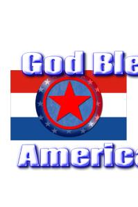 God Bless America Poster template