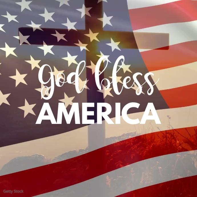 God Bless america Social Media Video Insta Persegi (1:1) template