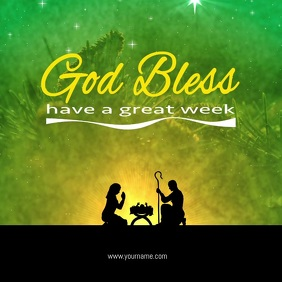 God Bless have a great week Card Flyer