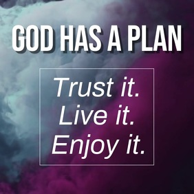 God Has a Plan Carré (1:1) template